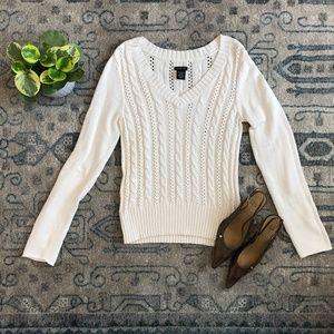 White Knit Calvin Klein Sweater M